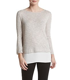Ivanka Trump® Ribbed Sweater