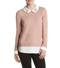 Ivanka Trump® Peterpan Embroidered Sweater