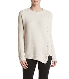 Ivanka Trump® Ruffle Front Sweater