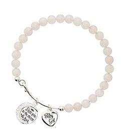 Marsala Silver-Plated Baby Girl Pink Beaded Bracelet