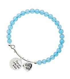 Marsala Silver-Plated Baby Boy Blue Beaded Bracelet