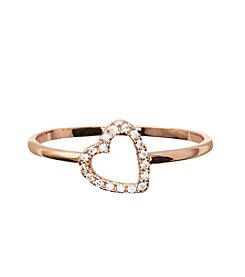 Marsala Rose Goldtone Heart Ring