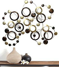 Stratton Home Decor Multicolored Geometric Circles Wall Decor