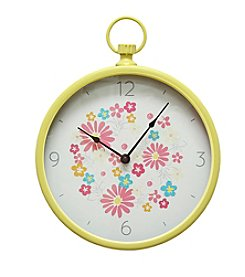 Stratton Home Decor Retro Round Wall Clock