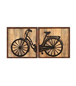 Stratton Home Decor Set of 2 Retro Bicycle Panels Wall Decor