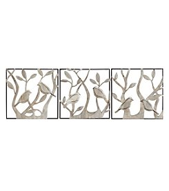 Stratton Home Decor 3-Piece Set Bird Panels Wall Decor