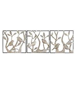 Stratton Home Decor 3-Piece Set Bird Panels Wall Decor