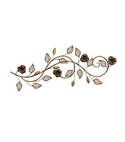 Stratton Home Decor Rose Scroll Wall Decor