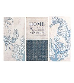 Stratton Home Decor 4-Piece Set Coastal Art