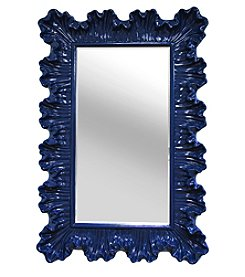 Stratton Home Decor Blue Elegant Ornate Wall Mirror