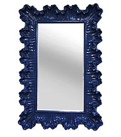 Stratton Home Decor Blue Elegant Ornate Wall Mirror