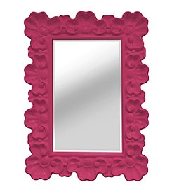 Stratton Home Decor Pink Elegant Ornate Wall Mirror