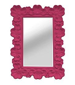 Stratton Home Decor Pink Elegant Ornate Wall Mirror