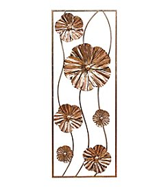 Stratton Home Decor Rose Gold Flower Panel Wall Decor