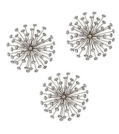 Stratton Home Decor Set of 3 Gold Burst Wall Decor