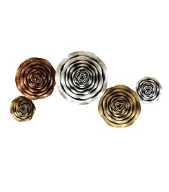 Stratton Home Decor Winding Multi Metallic Flowers Wall Decor