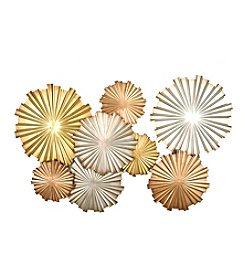 Stratton Home Decor Multicolor Metallic Circles Wall Decor