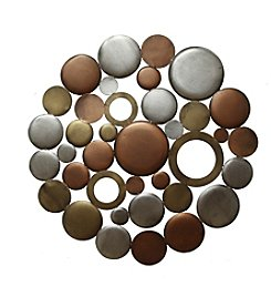 Stratton Home Decor Multicolor Metallic Circle Burst Wall Decor
