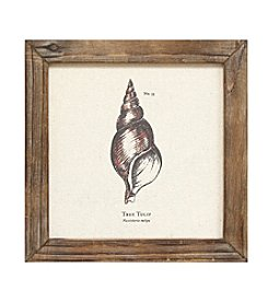 Stratton Home Decor Linen Seashell Wall Art