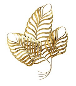 Stratton Home Decor Elegant Gold Leaf Wall Decor