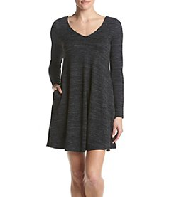 A. Byer Cozy Knit Lace Up Back Dress
