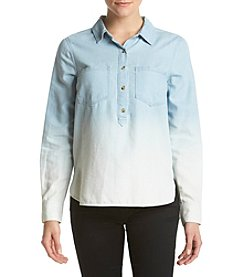 Jessica Simpson Poppy Ombre Button Up