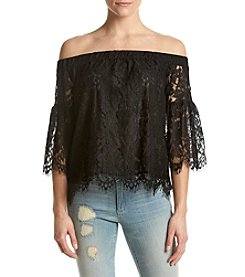 Jessica Simpson Delani Off-Shoulder Lace Top