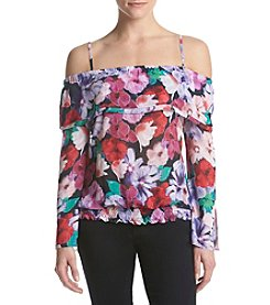 XOXO® Off-Shoulder Floral Top