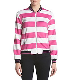 XOXO® Stripe Bomber Jacket