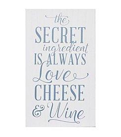Stratton Home Decor Love Cheese Wine Wall Art