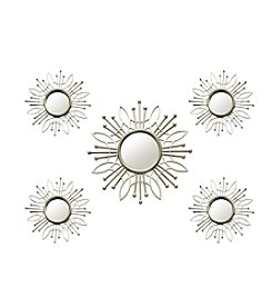 Stratton Home Decor 5-Piece Champagne Burst Wall Mirror