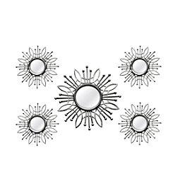 Stratton Home Decor 5-Piece Silver Burst Wall Mirror