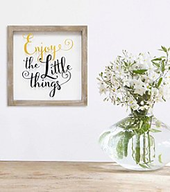 Stratton Home Decor Enjoy The Little Things Wall Art