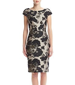 Vera Wang® Floral Jacquard Dress