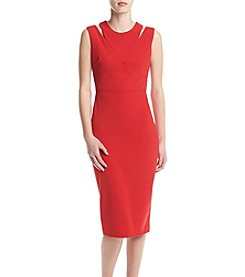 Calvin Klein Cutout Crepe Dress