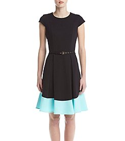 Calvin Klein Fit And Flare Ponte Dress