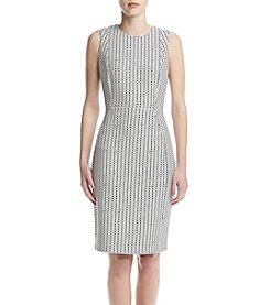 Calvin Klein Grid Dot Sheath Dress