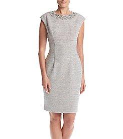 Eliza J® Beaded Neck Sheath Dress