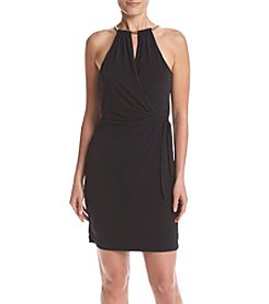 Jessica Simpson Keyhole Halter Dress