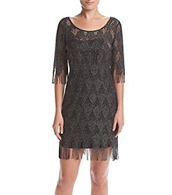 Jessica Simpson Fringe Lace Dress