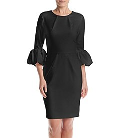Betsy & Adam® Ruffled Pleated Sheath Dress