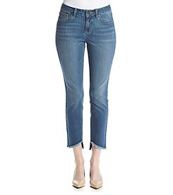 Earl Jean® High Low Frayed Hem Skinny Ankle Jean