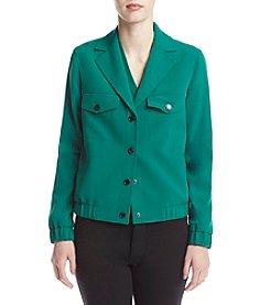 Anne Klein® Front Button Snap Jacket