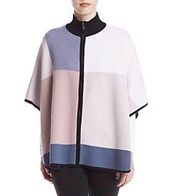 Anne Klein® Colorblocked Poncho