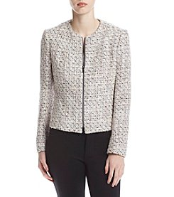 Anne Klein® Zip Front Cardigan Jacket