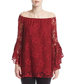 Fever™ Off Shoulder Lace Blouse