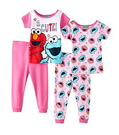 Sesame Street® Baby Girls' 4-Piece Sesame Street Characters Two Cute Set