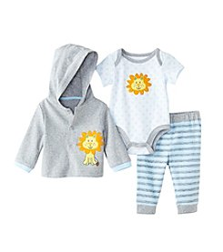 Cuddle Bear® Baby Boys' 3-Piece Lion Hoodie Gifting Set