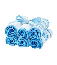 Cuddle Bear® Baby Boys 6-Pack 10x10 Washcloths