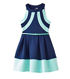 Beautees Girls' 7-16 Scuba Halter Dress
